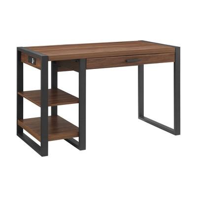 """48"""" Carlisle Industrial Farmhouse Tech Desk with USB - Saracina Home"""