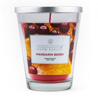 11.5oz Lidded Glass Jar Candle Mandarin Berry - Home Scents By Chesapeake Bay Candle