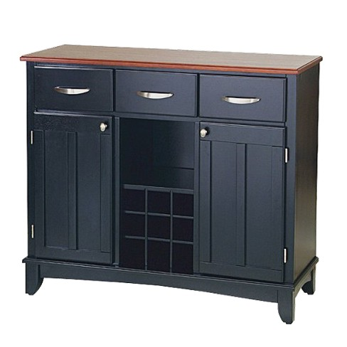 Hutch-Style Buffet Wood/Black/Cherry - Home Styles - image 1 of 1