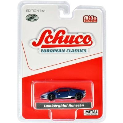 "Lamborghini Huracan Matt Dark Blue with White Stripes ""European Classics"" Limited Edition to 2400 pieces Worldwide 1/64 Diecast Model Car by Schuco"