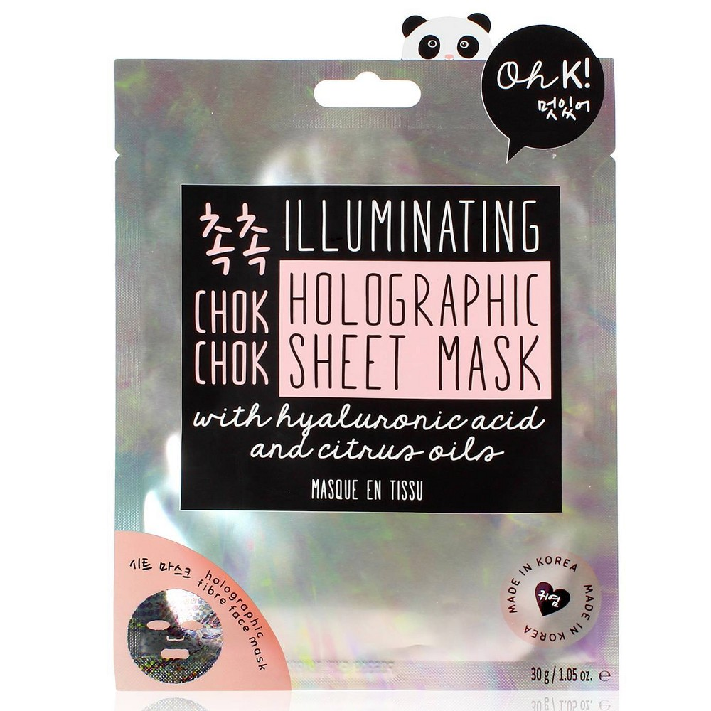 Image of Oh K! Chok Chok Holographic Sheet Mask - 1.05oz