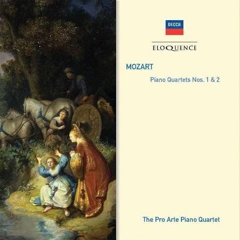 Wolfgang A.; Pro Arte Piano Quartet Mozart - Mozart: Piano Quartets Nos. 1 & 2 (CD) - image 1 of 1