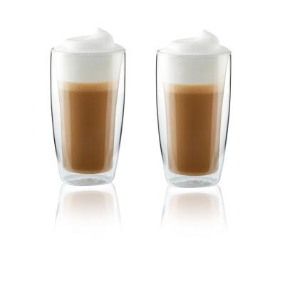 Henckels Double-Wall Glassware 2-pc 11.8oz. Latte Glass Set