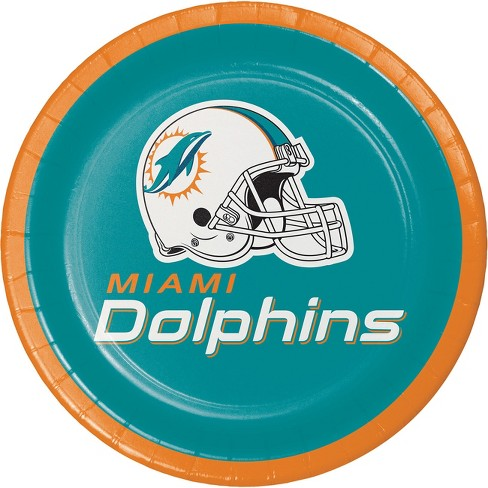 8ct Miami Dolphins Dessert Plates - image 1 of 1