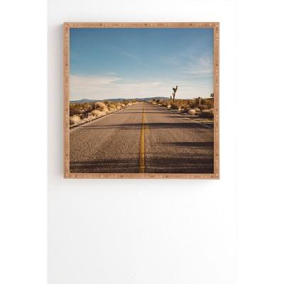 """20"""" x 20"""" Bethany Young Photography Joshua Tree Road Framed Wall Art Blue - Deny Designs"""