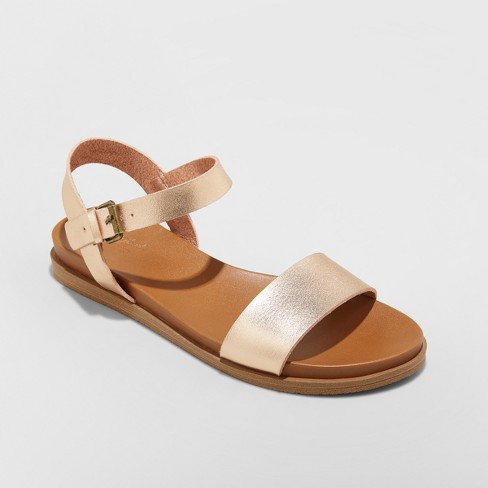 Women's Nyla Ankle Strap Sandals - Universal Thread™ Rose Gold 9.5 - image 1 of 3