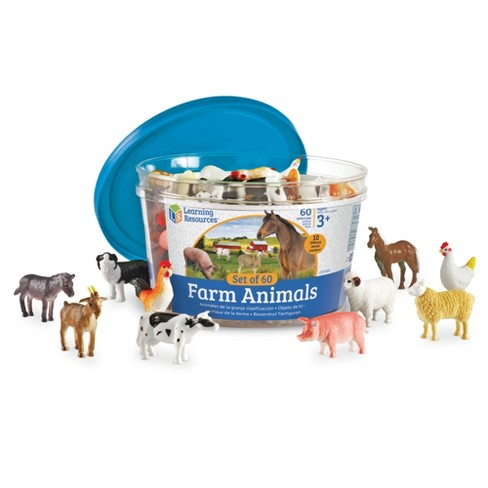 Learning Resources Farm Animal Counters, Set of 60, Ages 3+ - image 1 of 4