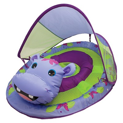 SwimWays Baby Spring Float Sun Canopy Animal Friends - Hippo