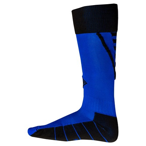 Franklin Sports Kids' Neo-Fit® Soccer Socks - Neon Blue/Black - image 1 of 1