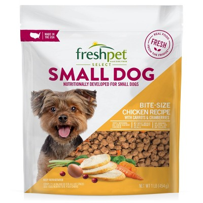 Freshpet Select Grain Free Small Wet Dog Chicken Recipe Refrigerated Wet Dog Food - 1lb