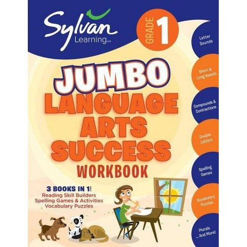 1st Grade Jumbo Language Arts Success Workbook - (Sylvan Language Arts  Super Workbooks) (Paperback) : Target