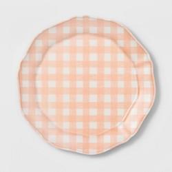 """11"""" Melamine Gingham Dinner Plate - Threshold™"""