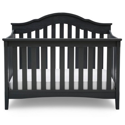 Delta Children Farmhouse 6-in-1 Convertible Crib - Textured Midnight Gray