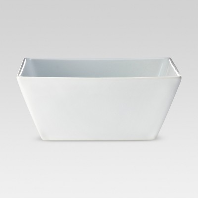 Square Rim Porcelain Cereal Bowl 8oz White - Threshold™