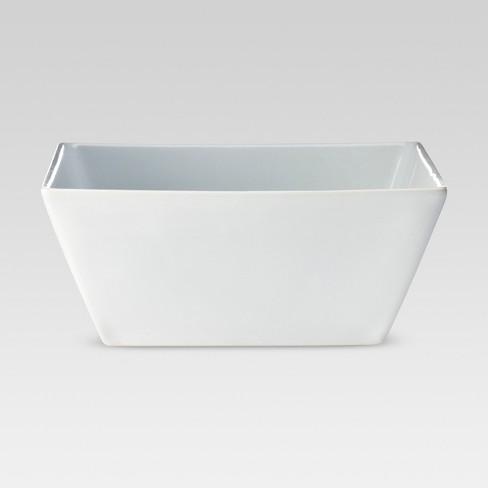 20oz Porcelain Square Rim Bowl White - Threshold™ - image 1 of 1