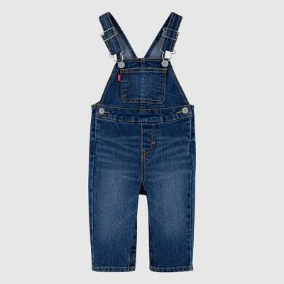 Levi's® Baby Denim Overalls - Medium Wash 3M