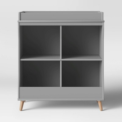 Delta Children Essex Changing Table/Bookcase - Gray