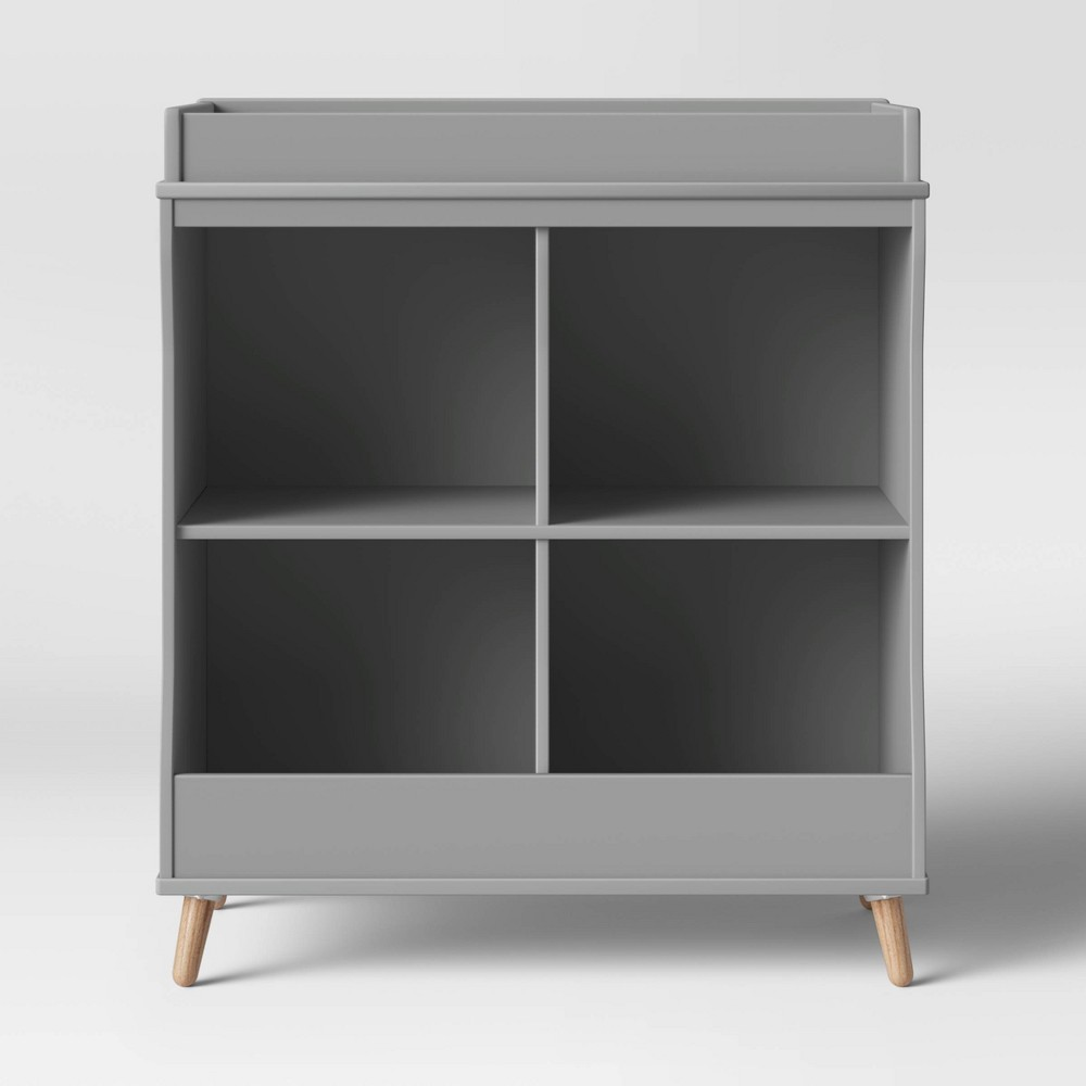 Image of Delta Children Essex Changing Table/Bookcase - Gray