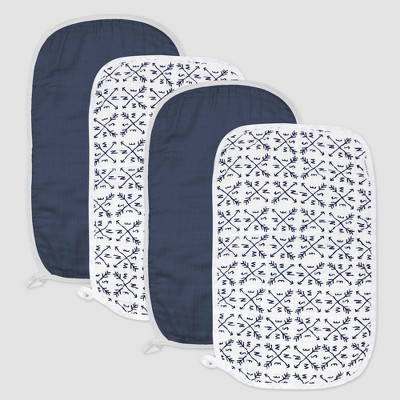 Honest Baby Boys' 4pk Organic Cotton Compass Burp Cloth