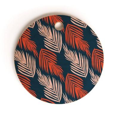 "13"" Wood Sunshine Canteen Palms Pattern Cutting Board - society6"