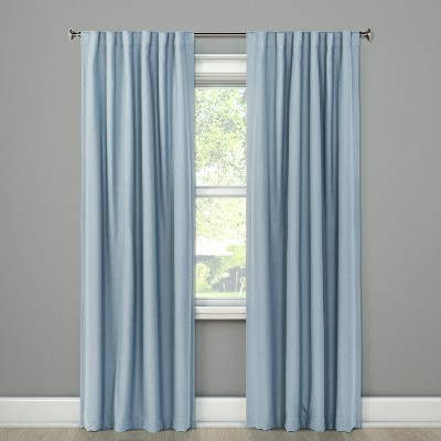 Aruba Curtain Panels 84 x50  Blackout Canterbury Blue - Threshold™