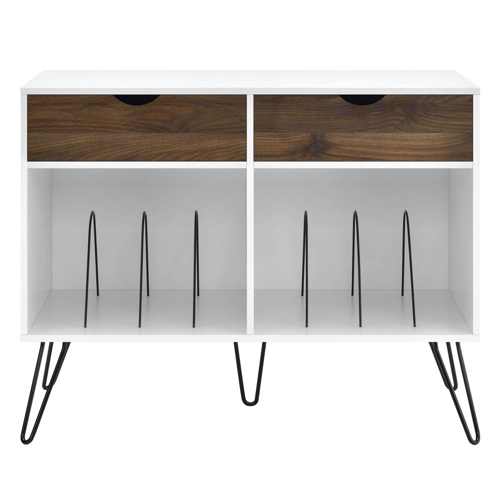 Image of Concord Turntable Stand with Drawers White - Novogratz
