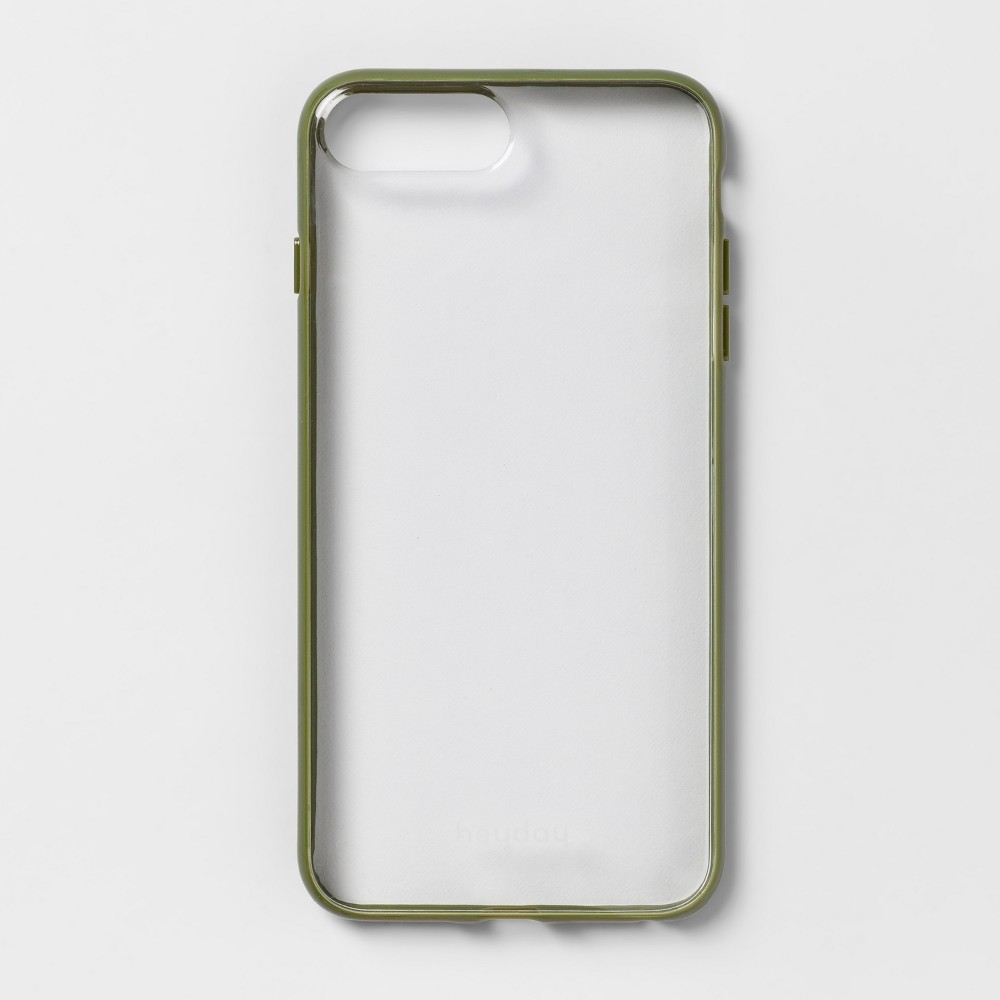 heyday Apple iPhone 8 Plus/7 Plus/6s Plus/6 Plus Case - Olive (Green)/Clear