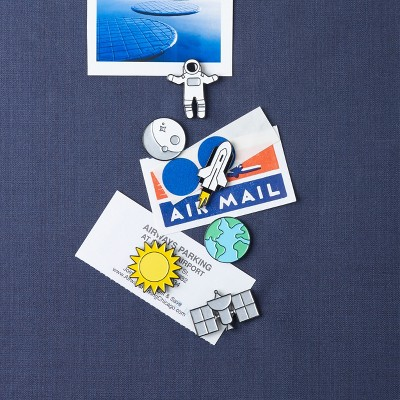 """Design Ideas SpacedOut Push Pins – Six Space Themed Tacks – 1.1"""" x 0.3"""""""