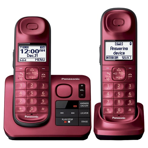 Panasonic Cordless Phone with Digital Answering Machine - Red (KX-TGL432R) - image 1 of 2