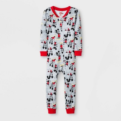Baby Boys' Mickey Mouse Union Suit - Gray 9M