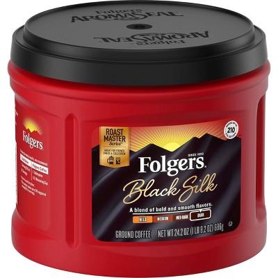 Folgers Black Silk Dark Roast Ground Coffee - 24.2oz