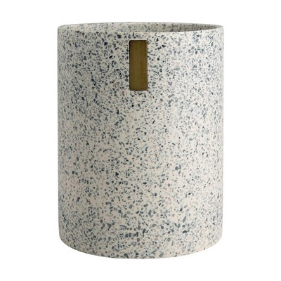 Lerrazzo Wastebasket Gray/Natural - Allure Home Creations