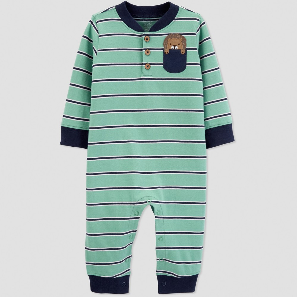 Baby Boys Lion Jumpsuit Just One You made by carters Green 24M