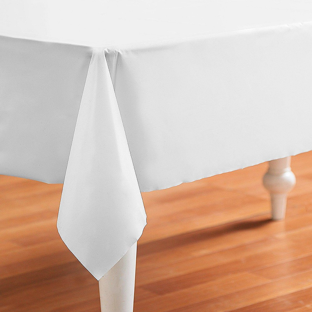 Bright White Rectangle Tablecover