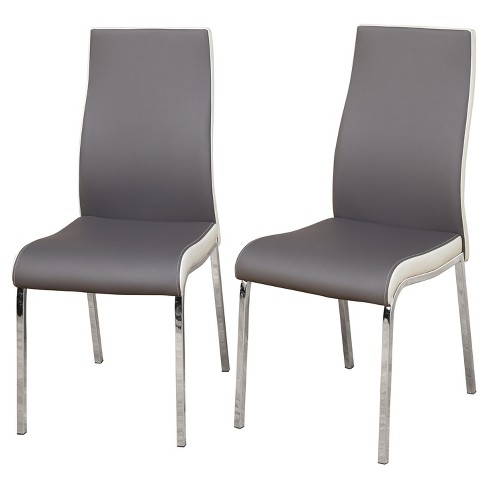 Nora Dining Chair Set Of 2 Gray White Target Marketing