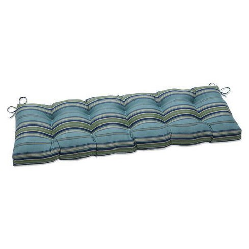 """56"""" x 18"""" Terrace Outdoor/Indoor Tufted Bench/Swing Cushion Breeze Blue - Pillow Perfect - image 1 of 1"""