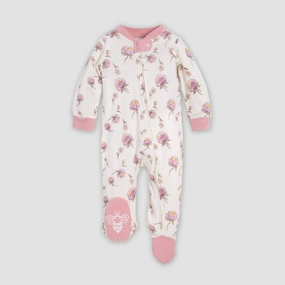 Burt's Bees Baby® Baby Girls' Freshly Picked Organic Cotton Sleep N' Play Union Suit - Pink 0-3M