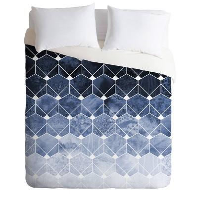 Elisabeth Fredriksson Hexagons And Diamonds Comforter Set Blue - Deny Designs