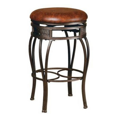 """26"""" Montello Backless Swivel Height Counter Height Barstool Bronze/Brown - Hillsdale Furniture"""
