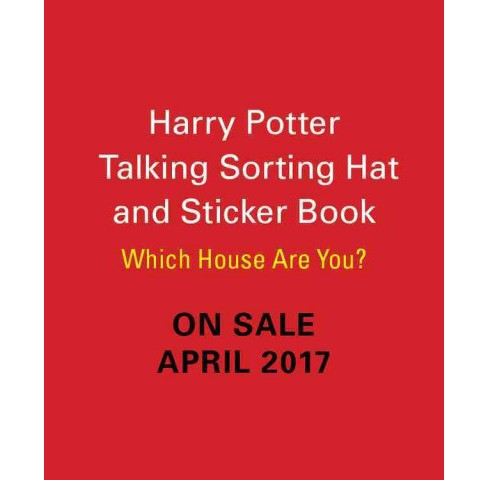 Harry Potter Talking Sorting Hat and Sticker Book : Which House Are You? (Paperback) - image 1 of 1