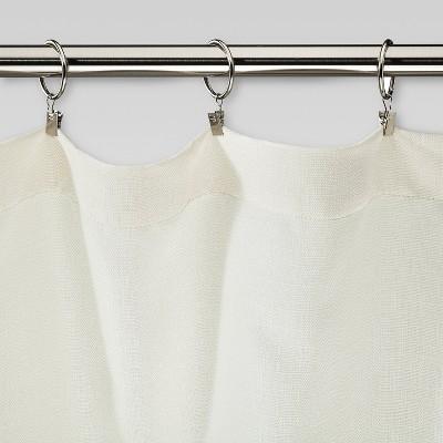 Beau Curtain Clip Rings Set   Brushed Nickel   Threshold™ : Target
