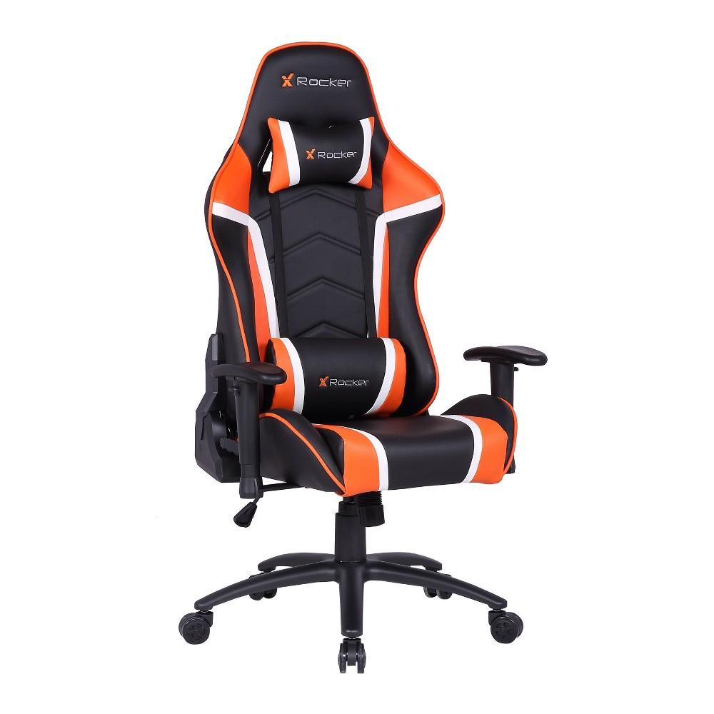 Image of Adrenaline PC Gaming Chair Orange/Black - X Rocker