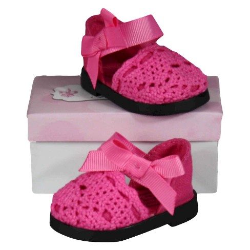 The Queen's Treasures® 18 Inch Doll Clothes Accessory, Pink Espadrille Sandal Plus Authentic Shoe Box - image 1 of 4