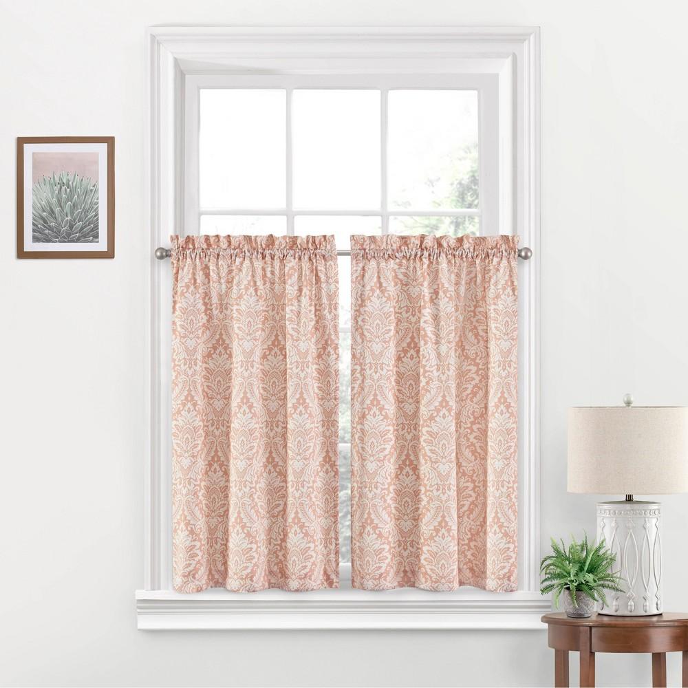 "Image of ""36""""x52"""" Donnington Rod Pocket Curtain Tier Set Blush - Waverly"""