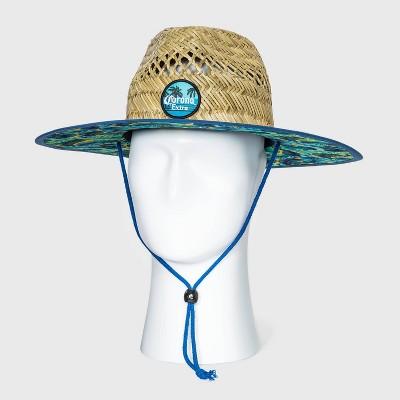 Men's Corona Straw Lifeguard Fedora Hat - Natural One Size