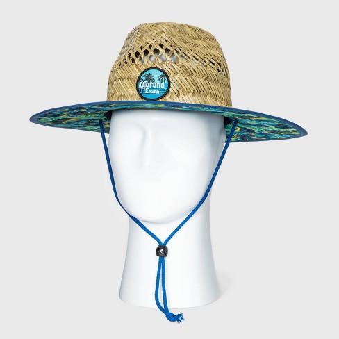 Men's Corona Straw Lifeguard Fedora Hat - Natural One Size - image 1 of 2