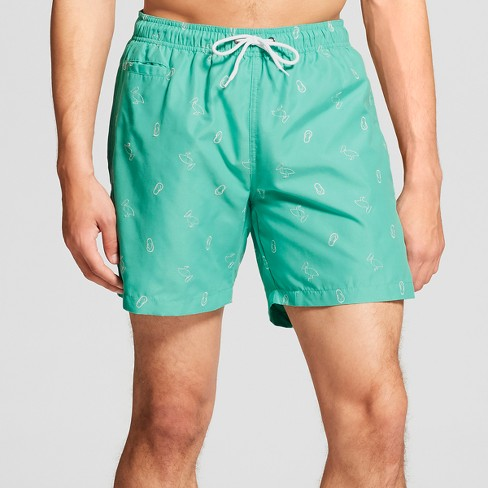 "Trunks Men's 6.5"" San-O Elastic Waist - Sea Green Pelicans - image 1 of 3"
