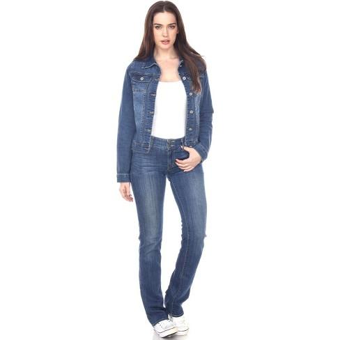 Women's Soft Stretch Denim Jacket - White Mark - image 1 of 3
