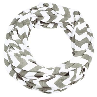 Itzy Ritzy Nursing Happens Infinity Breastfeeding Scarf - White/Gray Chevron