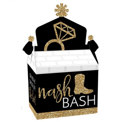 Big Dot of Happiness Nash Bash - Treat Box Party Favors - Nashville Bachelorette Party Goodie Gable Boxes - Set of 12
